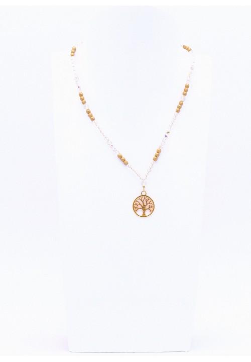 Glitzernde Halskette mit Lebensbaum Anhänger