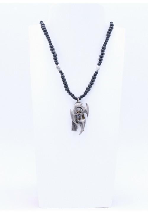 Halskette mit Tribal Anhänger Silber